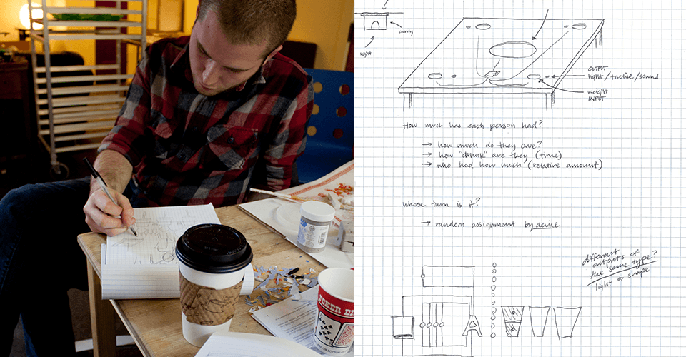 Sketching and planning in Metrix: the Hacker Space (Seattle)