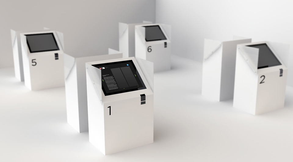 Rendering of the voting kiosk